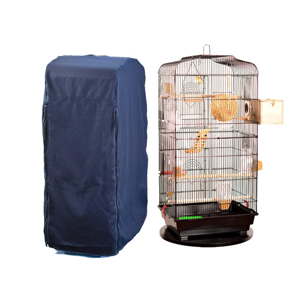 Hersent Large Bird Cage Cover, Breathable Pet Cockatiel Cage Skirt Jacket, Square Cage Crate Shell Shield,Great Accessory Protector for Promoting Sleep for Any Bird, Reptile, Or Small Animal by Hersent