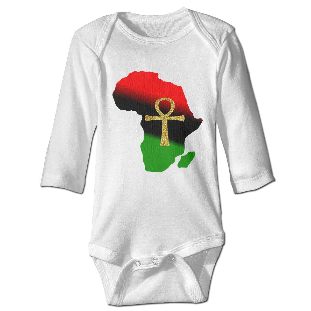 Pullan Eudora Africa and ANKH Unisex Baby Long Sleeve Bodysuits