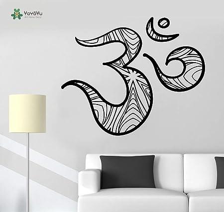 yuandp Tatuajes de Pared Decoración de la habitación Símbolo de Om ...
