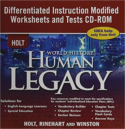 Free Worksheets education com free worksheets : Amazon.com: Holt World History ~ CD-ROM ~ Human Legacy ...