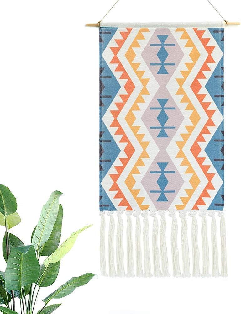 Amazon Com Dremisland Macrame Woven Wall Hanging Tapestry Boho Chic Bohemian Black White Geometric Art Decor Beautiful Apartment Dorm Room Door Decoration 17 3 W X 32 L San Marino Home Kitchen