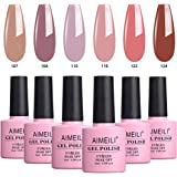 AIMEILI Soak Off UV LED Gel Nail Polish Multicolour/Mix Colour/Combo Colour Set Of 6pcs X 10ml - Kit Set 30