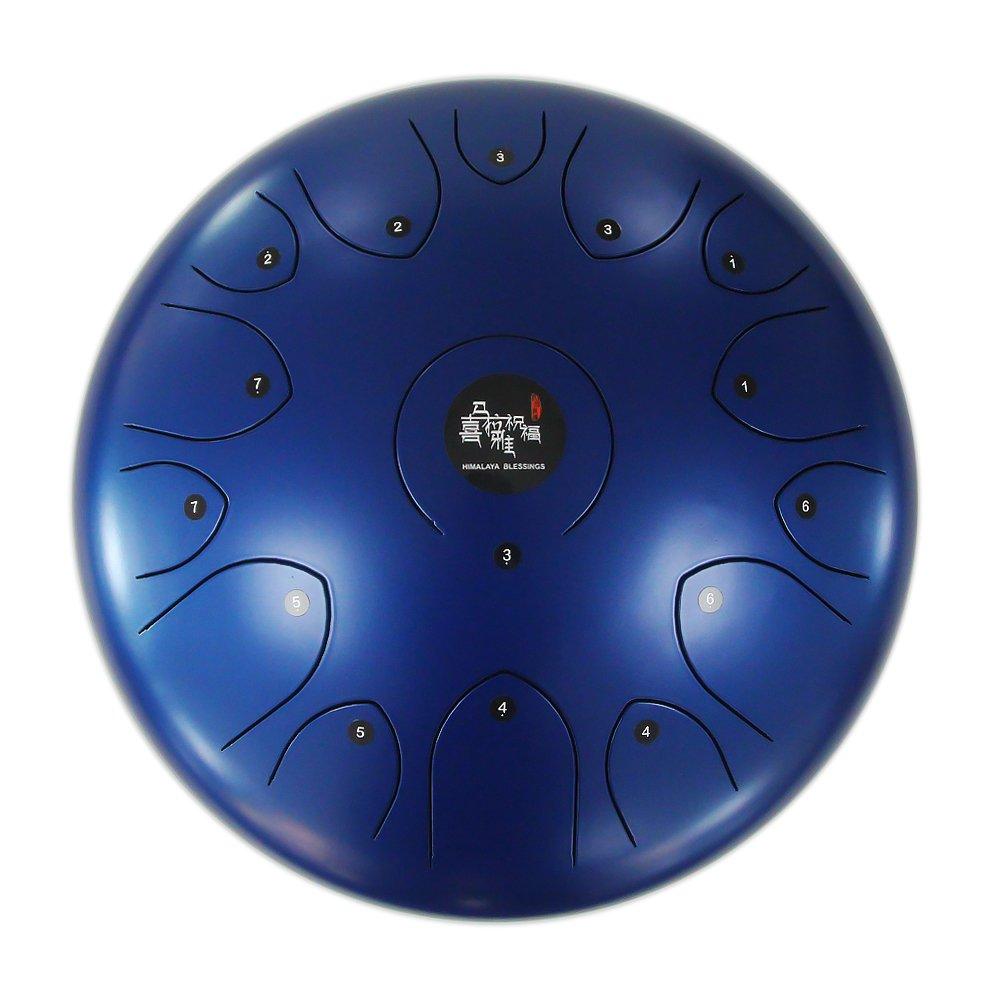 スティールタングドラム 専門版本14インチ自然Cメジャー ,冥想、ヨガ、祈る (つや消しブルー)  つや消しブルー B07B7HP293