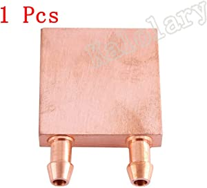 Pure Copper Water Cooling Block 40x40mm for Liquid Water Cooler Heat Sink System Silver for CPU Graphics Radiator Heatsink (1 Pack)