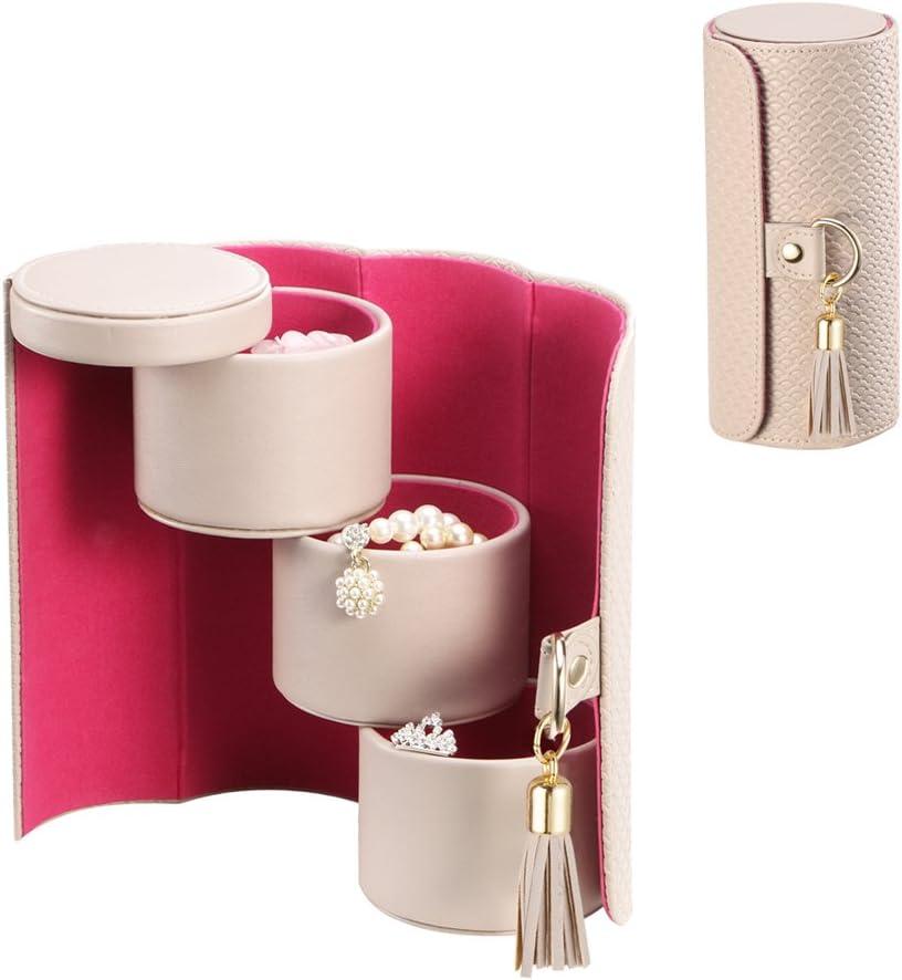 Vlando Viaggio Small Jewelry Case, Travel Accessory Storage Box: Home & Kitchen