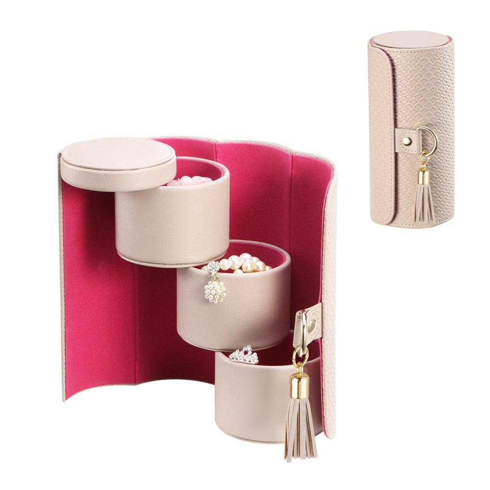 Vlando Viaggio Small Jewelry Case, Travel Accessory Storage Box by Vlando