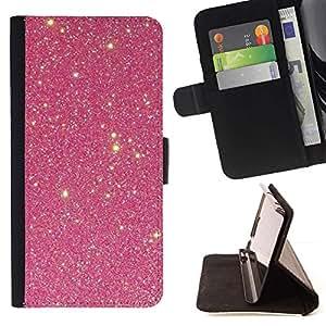 ForSamsung Galaxy S3 MINI i8190 (NOT S3) Case , Viñeta Estrellas del cielo Noche Luminoso Cosmos- la tarjeta de Crédito Slots PU Funda de cuero Monedero caso cubierta de piel