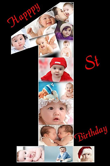 Personalized Happy Birthday Photo Collage With Your Year Any Numeric Availlable Frame 8x12