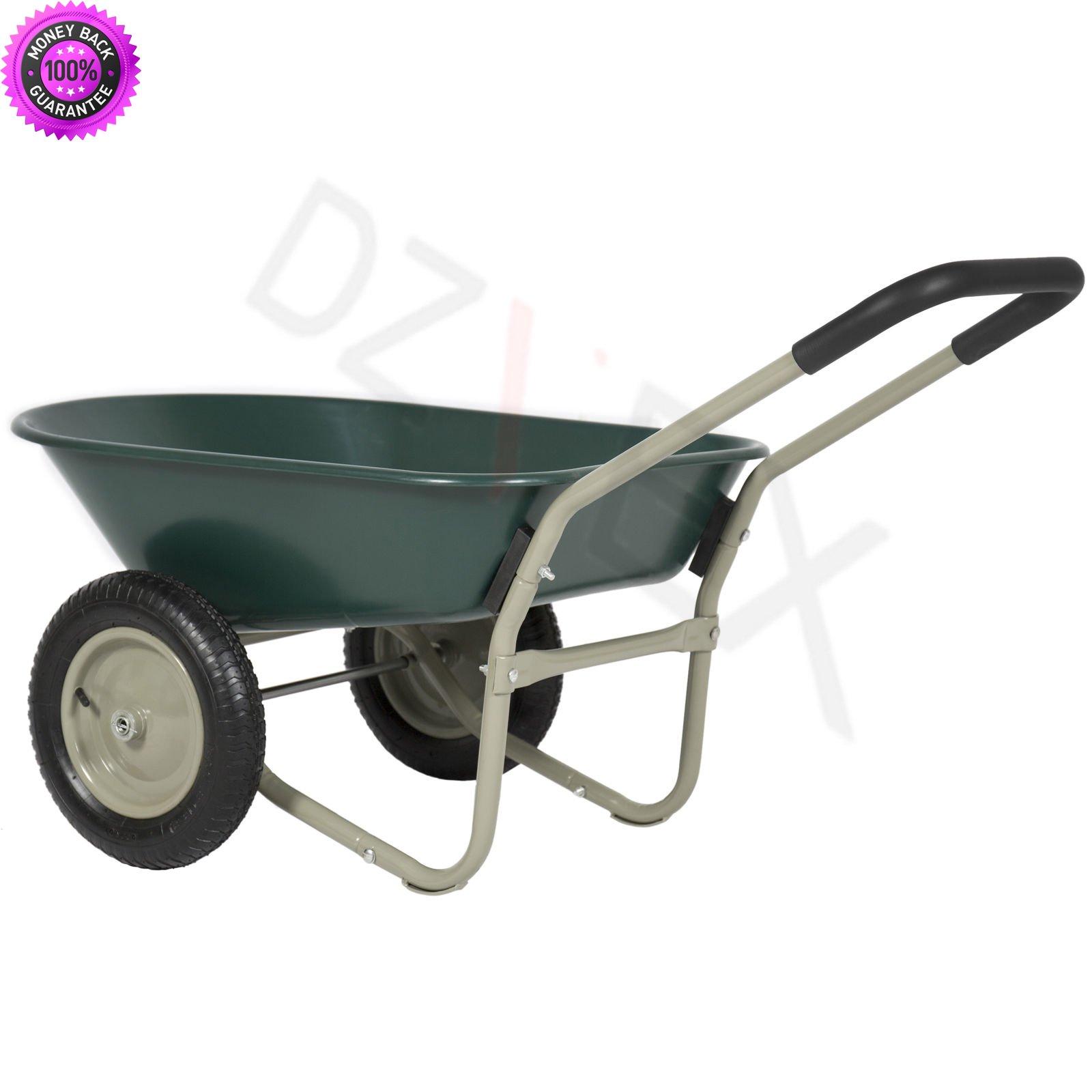 DzVeX Dual Wheel Home Wheelbarrow Yard Garden Cart And wheelbarrow tractor supply wheelbarrows home depot lowes wheelbarrow wheelbarrow wheelbarrows near me