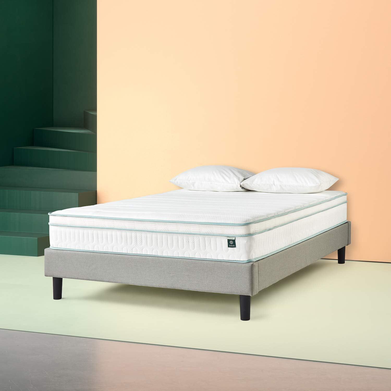 Zinus - Menta, colchón viscoelástico de 150x200x25cm, Certificación OEKO-TEX®