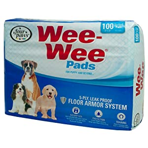 Wee Wee Puppy Pee Pads for Dogs   100 Count   Puppy Training Pads for Dogs   Standard Size Pads