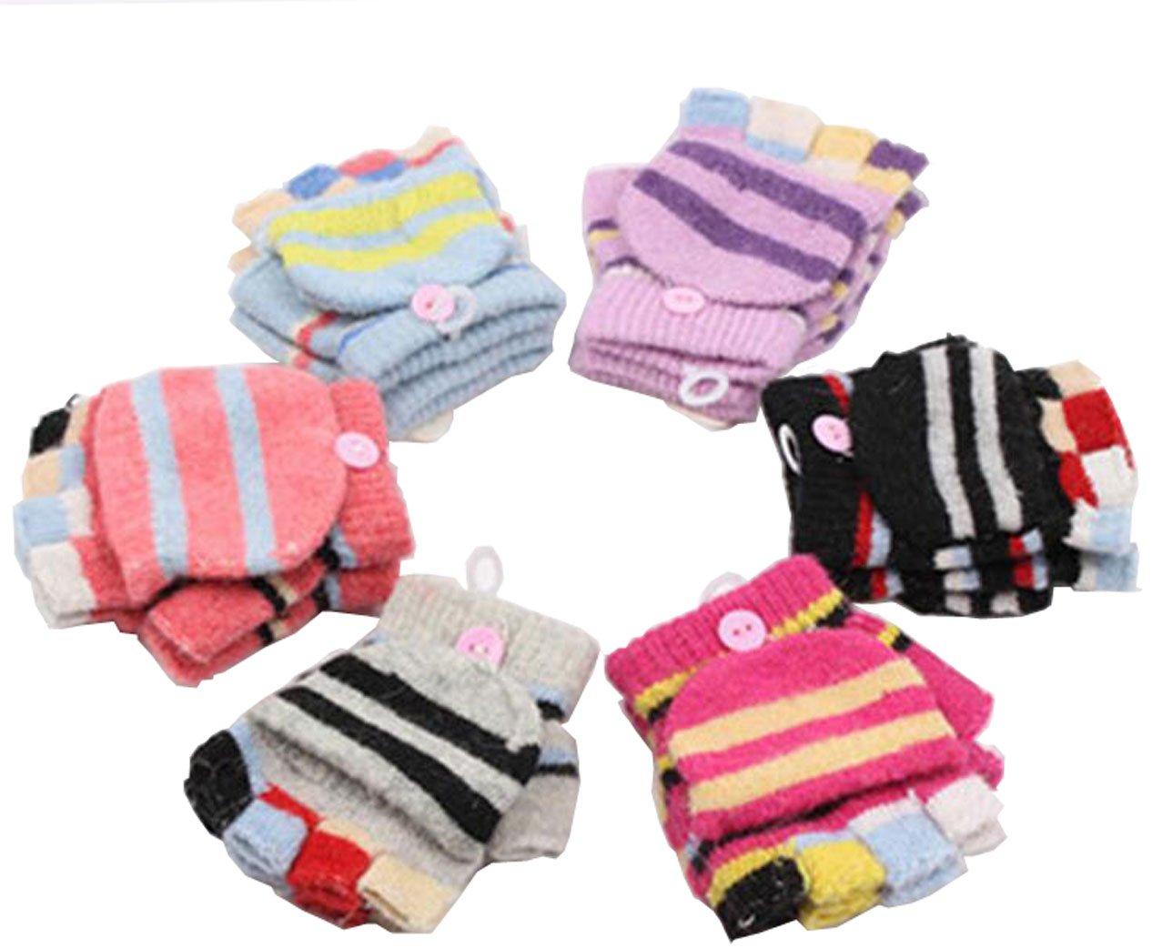 Luckystaryuan ® Christmas Gift Children Set of 3 Autumn Winter Hand Glove st04etcag