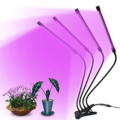Xrrxy LED 360°Adjustable Gooseneck Grow Light, 40W 72 LEDs Four Head Plant Grow Light with USB Cable, 5 Dimmable Levels Modes, Make Your Plants Strongeand Healthier for Indoor Plants, Veg and Flower: Home & Kitchen