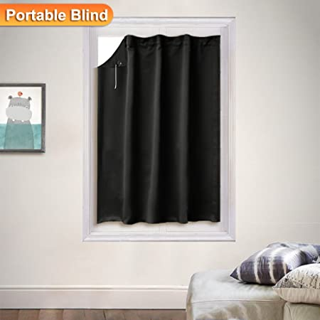 PONY DANCE Baby Blackout Blinds Black Curtains Black 48 Piece Unique Blackout Blinds For Baby Room