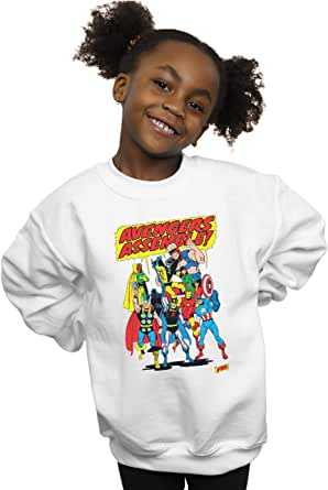 Marvel Comics Niñas Avengers Assemble Camisa De Entrenamiento