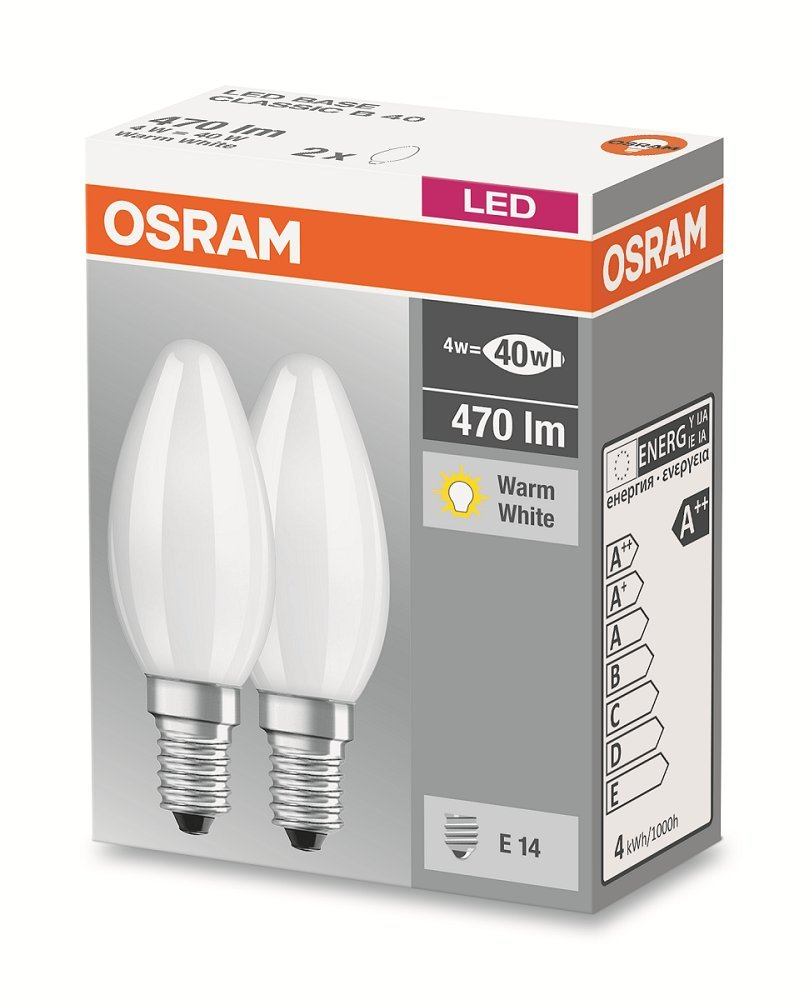 Osram LED Base Classic B/LED-Lampe in Kerzenform mit E14-Sockel ...
