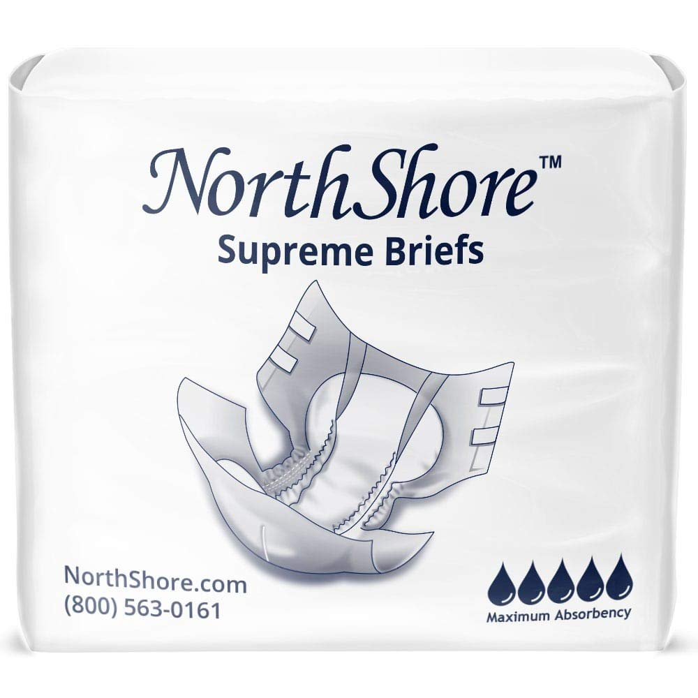 NorthShore Supreme Incontinence Tab-Style Briefs, Medium, Case/60 (4/15s)