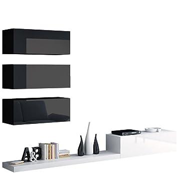 Wohnwand Pixel III, Modernes Wohnzimmer, Anbauwand, Fernsehschrank ...