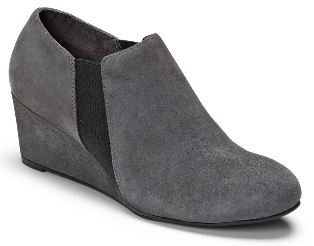 VIONIC Women's Elevated Stanton Wedge Slate Grey Wedge by Vionic