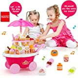 MAGNIFICO® Sweet Super Mini Market Kitchen Set Toy for Kids (39 Piece, Pink)