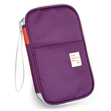 EssVita Viaje Pasaporte Cartera Unisex Impermeable Cremallera Bolso Organizador Para Pasaporte/Documentos/Credit Card