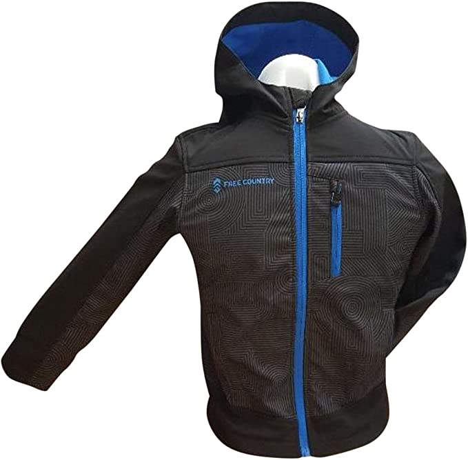 Free Country Boy/'s Boarder Jacket Electric Blue//Black