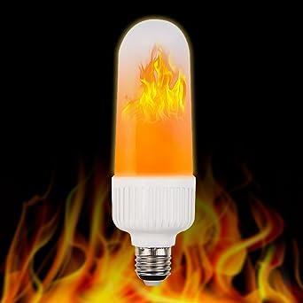 De la llama LED bombilla, casetego E27 LED efecto llama fuego luz bombillas, 2835