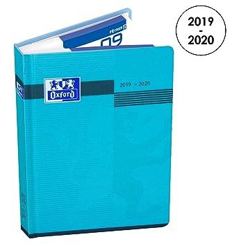 Oxford - Agenda Escolar Diaria 2017 – 2018, 1 día por página, 352 páginas, 12 x 18 cm, color azul (idioma español no garantizado)