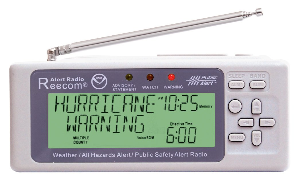 Unique Simultaneously Watch Multiple Channel Alerts (in Standby) with EOM Detection, Reecom R-500 Same Weather Alert Radio with AM/FM (Light Grey) by Reecom (Image #5)