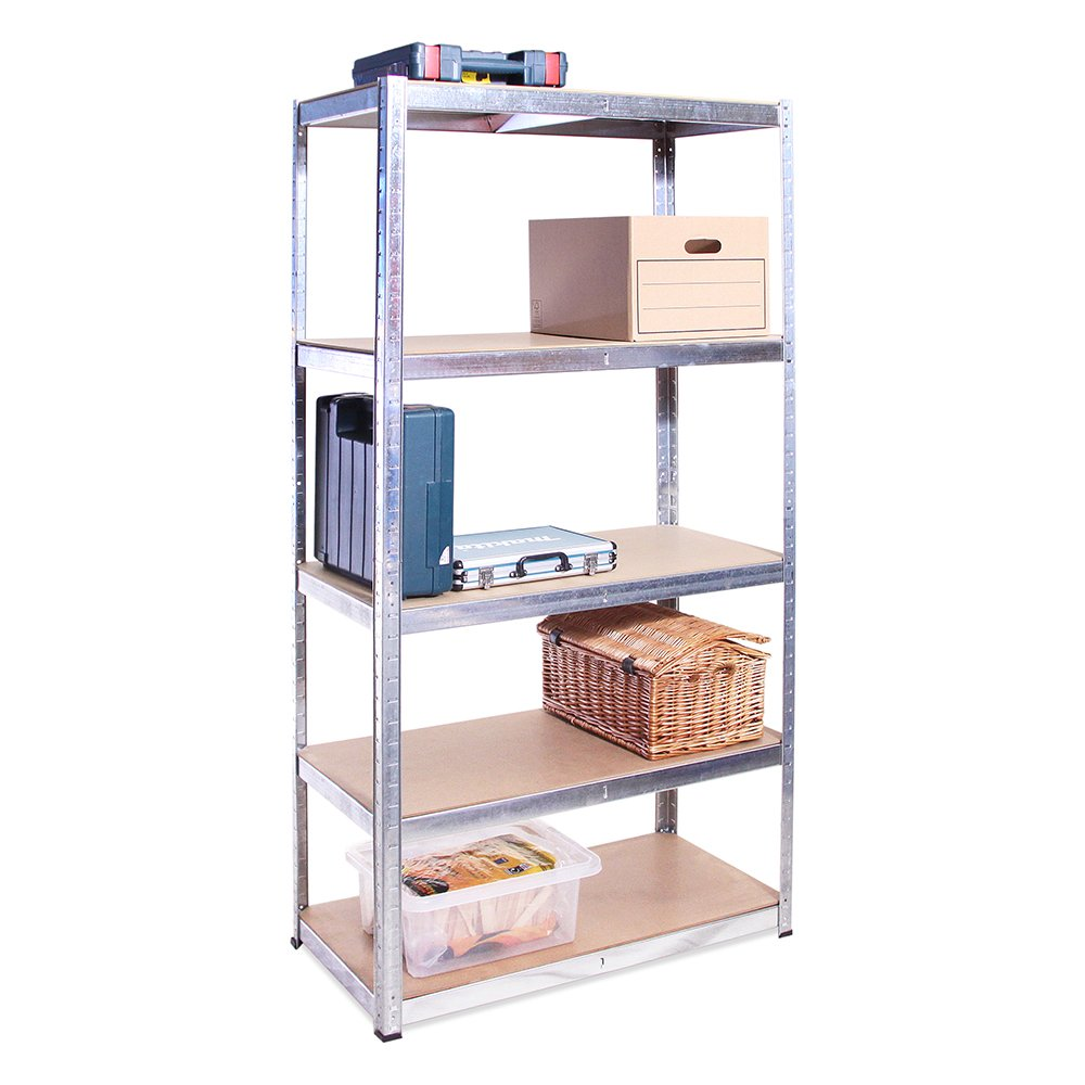 180cm x 90cm x 45cm, Black 5 Tier (175KG Per Shelf), 875KG Capacity Garage Shed Storage Shelving Units, 5 Year Warranty G - Rack