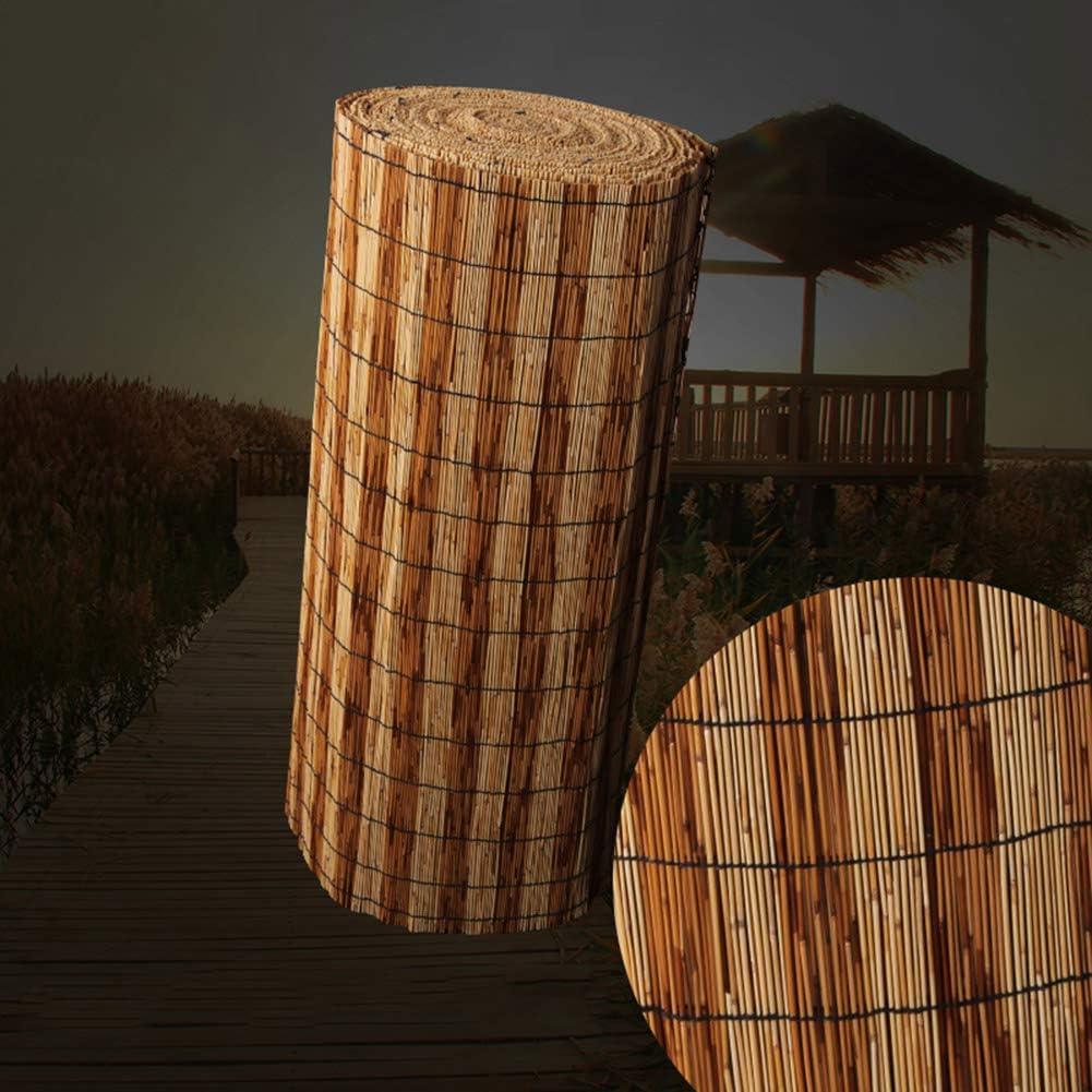 Herxy Caña pelada Natural, persianas de caña para jardín/Exterior/Barco/Cubierta, Pantalla de privacidad de Sombra (100/120 / 130cm, Ancho): Amazon.es: Hogar