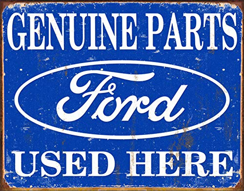 Poster Discount MS1422 Tin Sign Ford Parts, 16x13 Blue