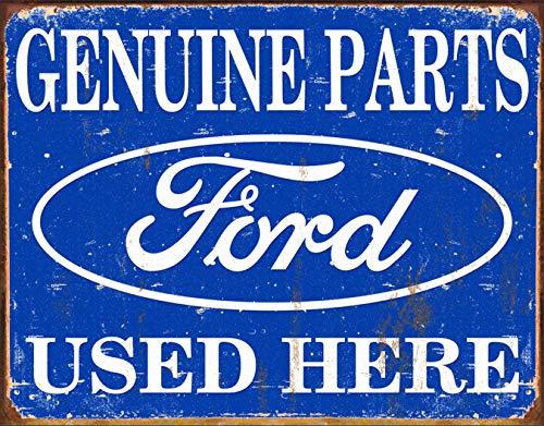 - Desperate Enterprises MS1422 Tin Sign Ford Parts, 16x13, Blue