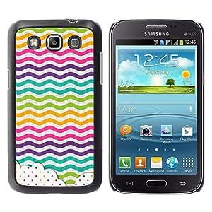 iKiki Tech / Estuche rígido - Dot Waves Lines Rainbow Color - Samsung Galaxy Win I8550 I8552 Grand Quattro
