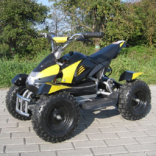 Miniquad Elektro Cobra Kinder 800 Watt ATV Pocket Quad Kinderquad Kinderfahrzeug gelb/schwarz