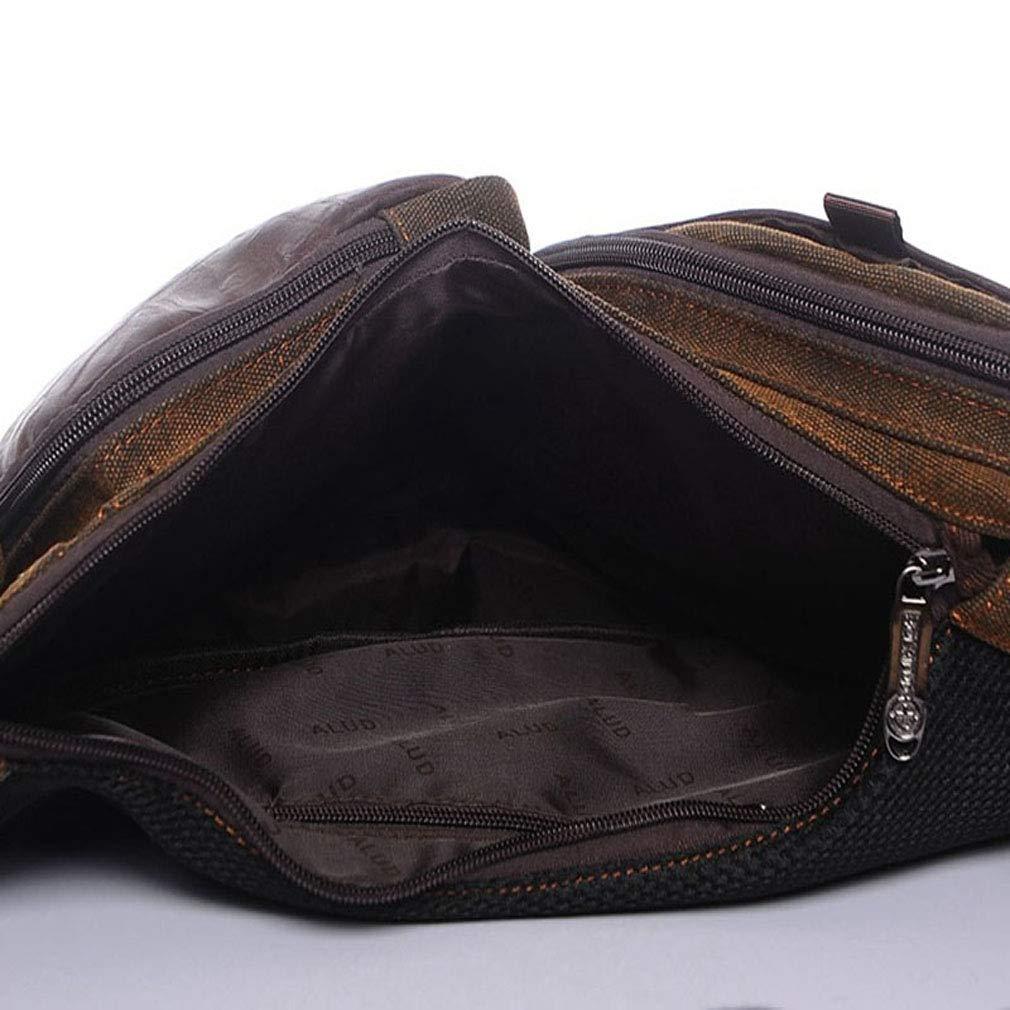 Xieben Sac /à bandouli/ère homme Vintage sac de poitrine homme cuir Sac poitrine Sac messenger Mousqueton Randonn/ée sac de poitrine d/écontract/ée vachette moiti/é Sac /Épaule De Sac