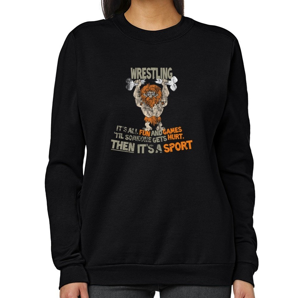 Teeburon Wrestling GETS HURT Women Sweatshirt
