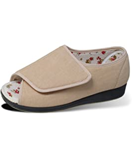 Amazoncom Womens Extra Extra Wide Width Adjustable Slippers