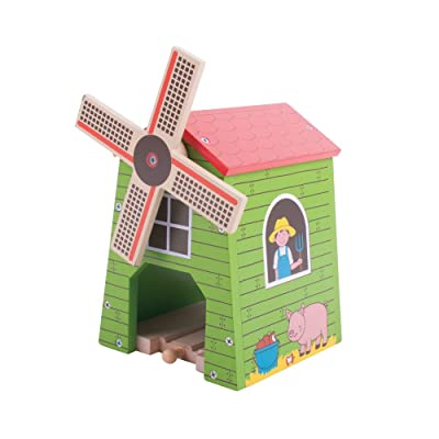 Bigjigs Rail Country Windmill - Other Major Wooden Rail Brands are Compatible: Toys & Games