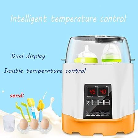 Calienta Biberones Esterilizador Biberones Calentador De Alimentos para Bebés, con Pantalla LCD, Control Preciso De Temperatura, Modo Constante, Apto Todos Los Biberones,Rosado
