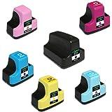 YADUNINK 互換インク HP 177XL 6色セット 増量タイプ (BK C M Y LC LM) hp177インクカートリッジ ICチップ付き