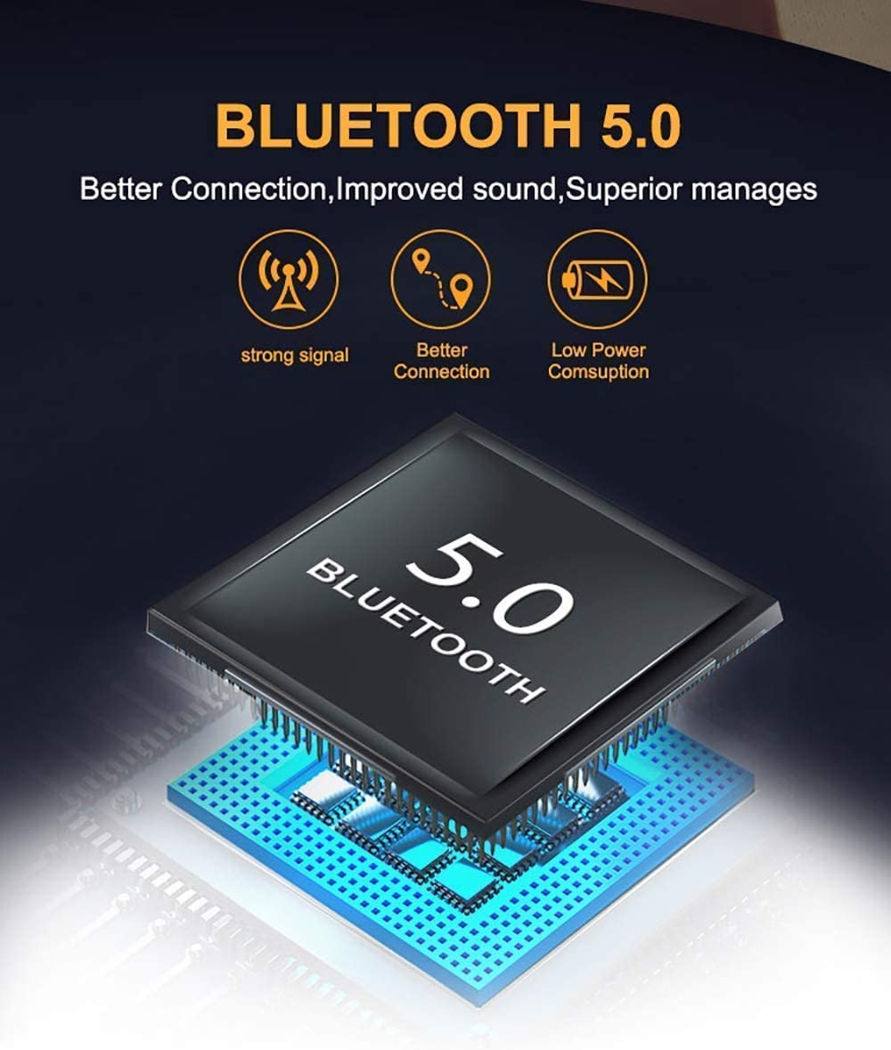 Mini Auriculares Bluetooth internos de 15 Horas para Android iOS #F21 2020 Auriculares inal/ámbricos Bluetooth con cancelaci/ón de Ruido