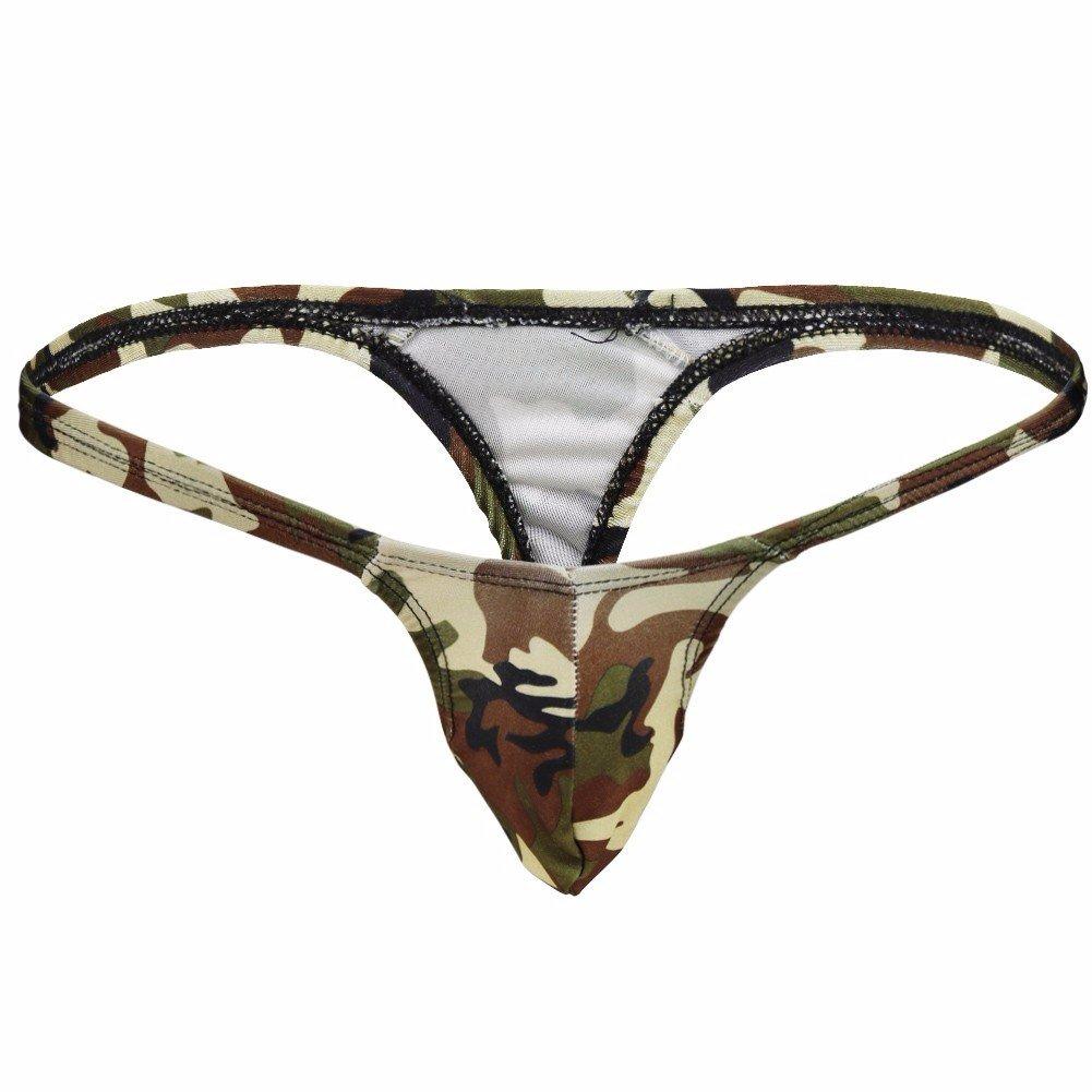 iEFiEL Tangas Camuflaje Slips para Hombre Ropa Interior Masculina Verde: Amazon.es: Ropa y accesorios
