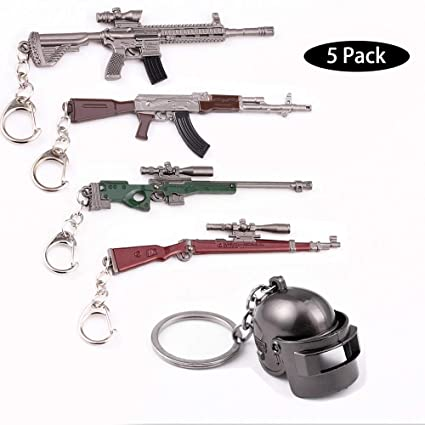 5X Arma Guns Pistola 3D Modelo Llavero de Metal, TLongitud ...
