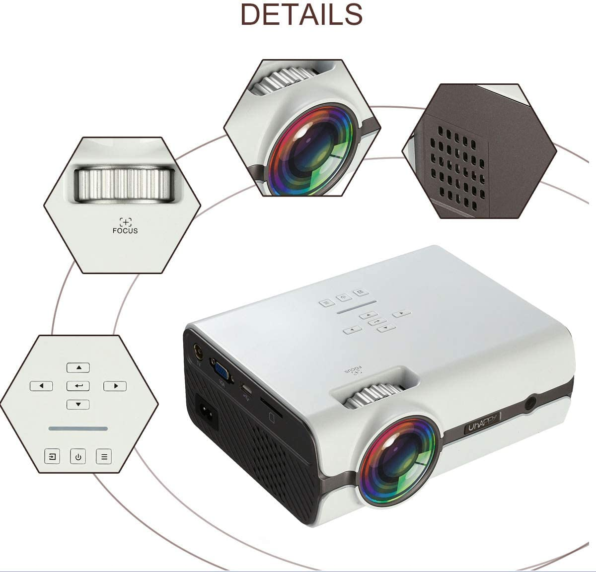 U45 Pro Android 6,0 Mini LED Proyector, Proyector Portátil Con ...