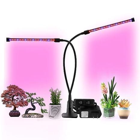 Exmate Luz de cultivo interior 18W, bombillas de lámpara LED de grados Flor de hortalizas