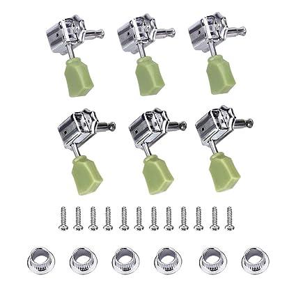 3 pares de clavijas de afinación, 3 R 3L cabezales de máquina sintonizadores de cadena