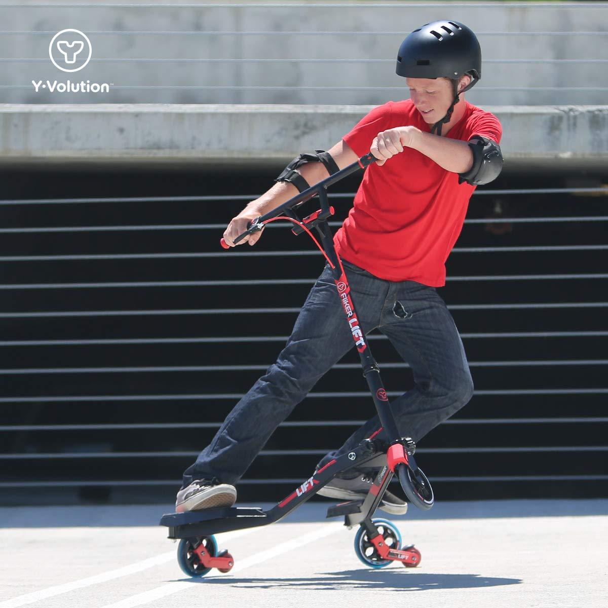 YVolution Fliker L3 Patinete De 3 Ruedas, Unisex niños, Rojo ...