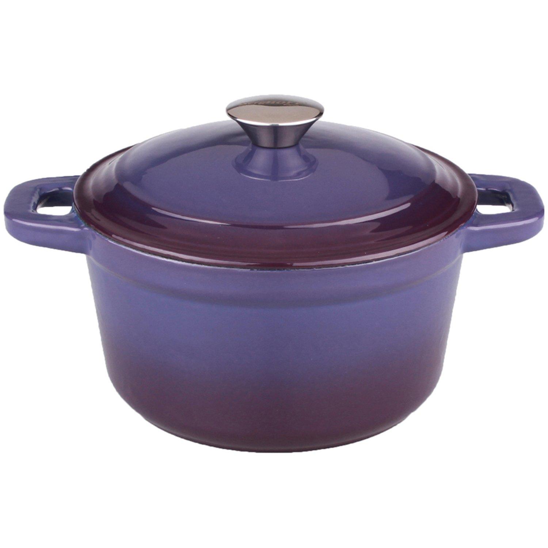 BergHOFF Neo Cast Iron Round Covered Dutch Oven, 3 quart, Purple