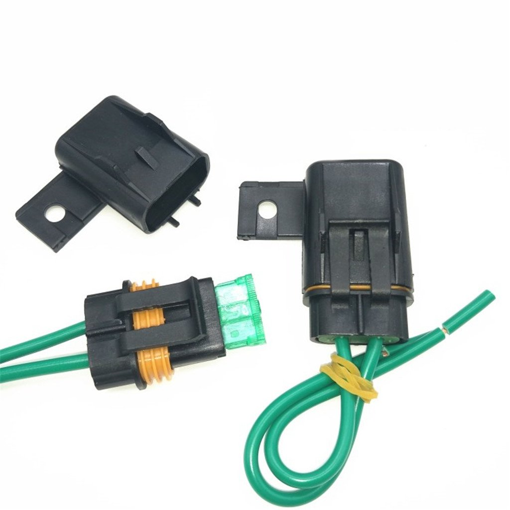 1 set Sicherungshalter KFZ LKW Flachsicherung Sicherung Halter wasserdicht 30A inkl. 30A Sicherung -12 inches//Kabel